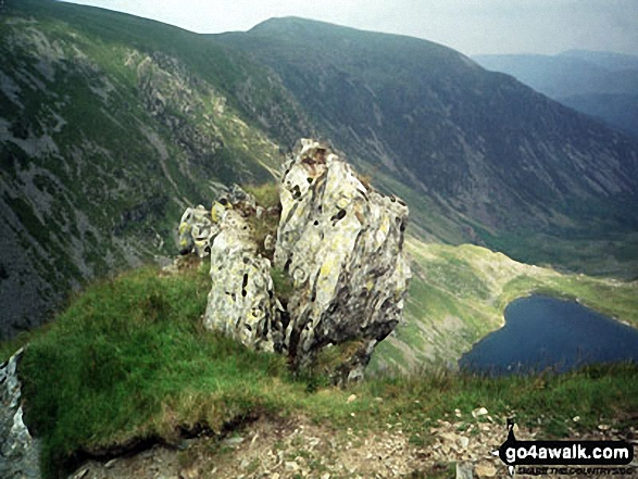 Llyn Cau from the Minffordd Path on the upper slopes of Cadair Idris