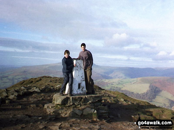 My two suns on Sugar Loaf (Y Fal)