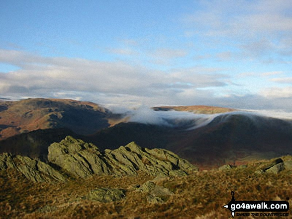 Walk c216 Great Rigg and Heron Pike from Grasmere - East from Stone Arthur