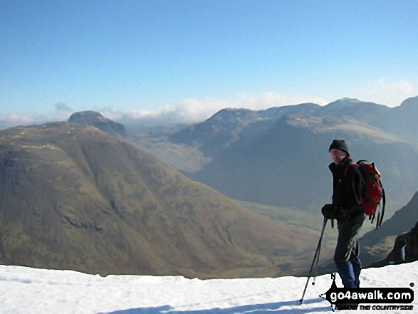 Walk c240 Kirk Fell, Pillar and Little Scoat Fell from Wasdale Head, Wast Water - Great Gable from Red Pike (Wasdale)