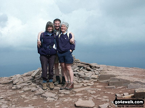 Jenny, Betty and myself in the middle on Pen Y Fan
