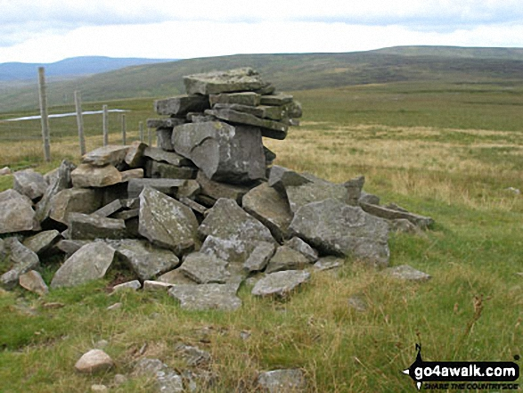 Another cairn beside the fence North-West of Great Stony Hill