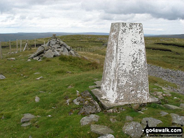 Cairn and Trig Point on Great Stony Hill summit