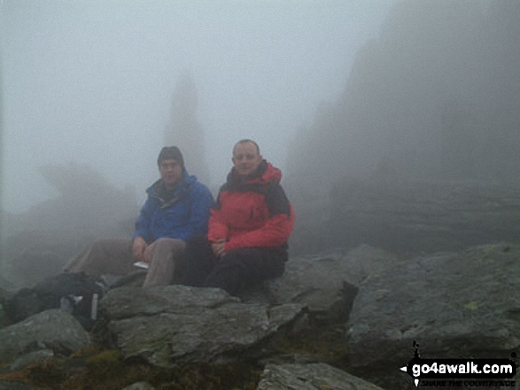 Me and my best mate Steve on Glyder Fach