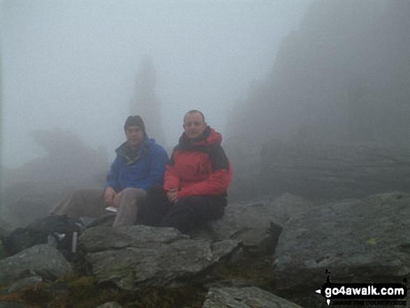 Walk gw115 Glyder Fach, Castell y Gwynt and Glyder Fawr from Ogwen Cottage, Llyn Ogwen - Me and my best mate Steve on Glyder Fach