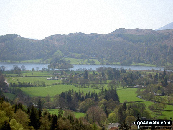 Grasmere from the lower slopes of Stone Arthur. Walk route map c389 Great Rigg, Fairfield and Hart Crag from Ambleside photo