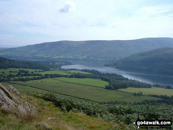 Ullswater from Yew Crag (Gowbarrow Fell) with Arthur's Pike and Bonscale Pike beyond