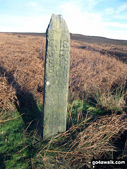 Ancient Guide Stoop/Sign Post SW of Beeley Moor Trig Point