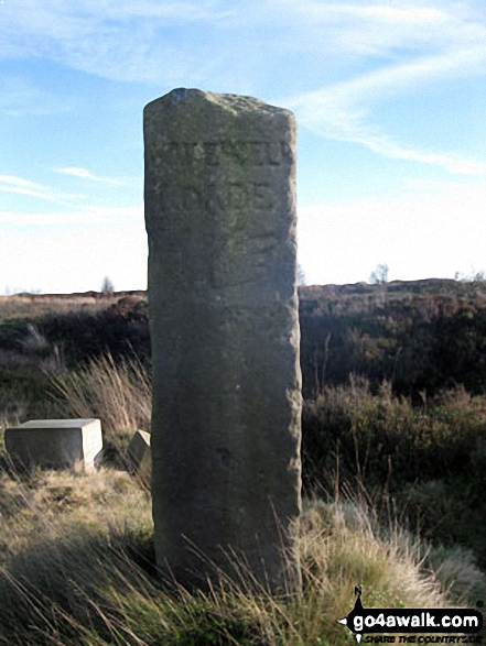 Ancient Guide Stoop/Sign Post South of Harland Sick This face is carved with the letters 'BAKEWELL ROADE' with a hand pointing the way towards Bakewell