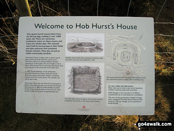 Hob Hurst's House Information Board, Beeley Moor