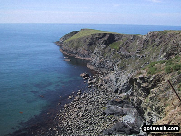 The Pembrokeshire Coast Path. Walk route map pe131 Aber Rhigian and Mynydd Carningli from Newport photo