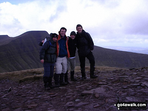 Jamie, Andy, Adam and Pete on Pen y Fan