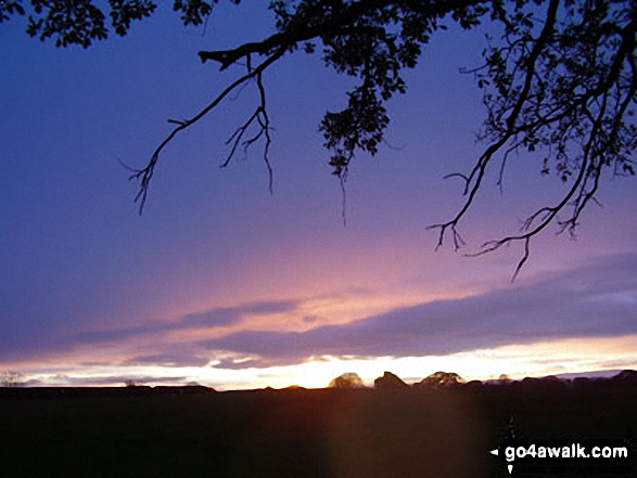 Sunset over Cheshire from Foxwist Green