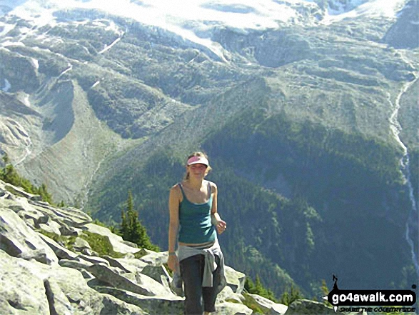 My daughter Lucy on Glacier Crest Ridge walk Glacier National Park, British Columbia Canada walks