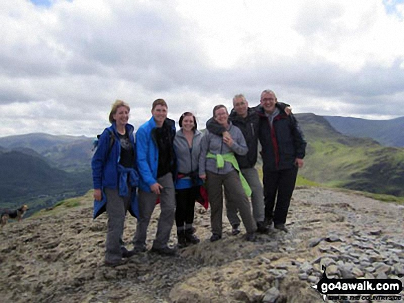 Me with friends (Dave, Hannah, Verne, Ali & Pete) on top of Cat Bells (Catbells)