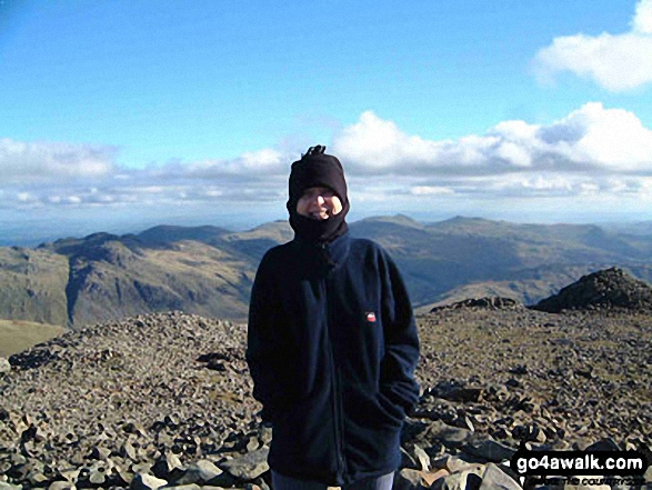 Me, after nearly bottling the last bit! on Scafell Pike walk The Lake District Cumbria England walks