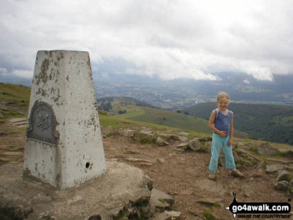 My Daughter on Sugar Loaf walk The Black Mountains Monmouthshire Wales walks