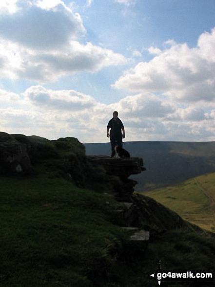 Walk po169 Corn Du, Pen y Fan, Cribyn and Fan y Big from Nant Cwm Llwch nr Brecon - On the summit of Fan y Big