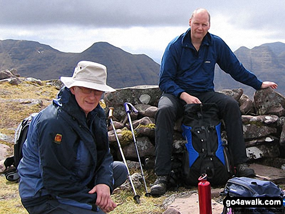 Walk Beinn an Eoin (Flowerdale Forest) walking UK Mountains in The Achnashellach and Torridon Hills  Highland    Scotland