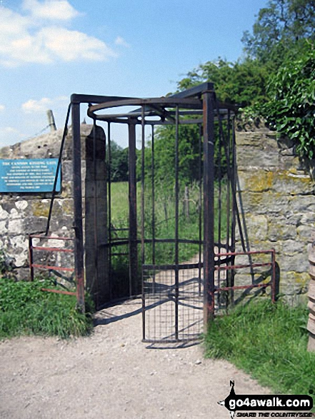 The Tall Rotary Gate allowing entrance to Chatsworth Park from Baslow