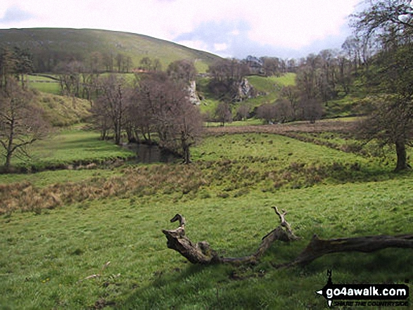 Wolfscote Dale. Walk route map s156 Wetton and Wolfscote Dale from Milldale photo