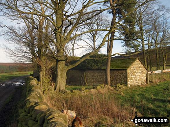Stone barn above Smeltingmill Wood near Beeley