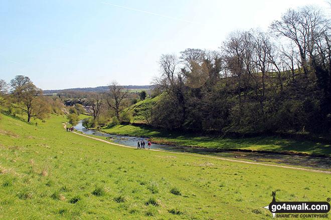 The River Bradford near Youlgreave in beautiful Bradford Dale
