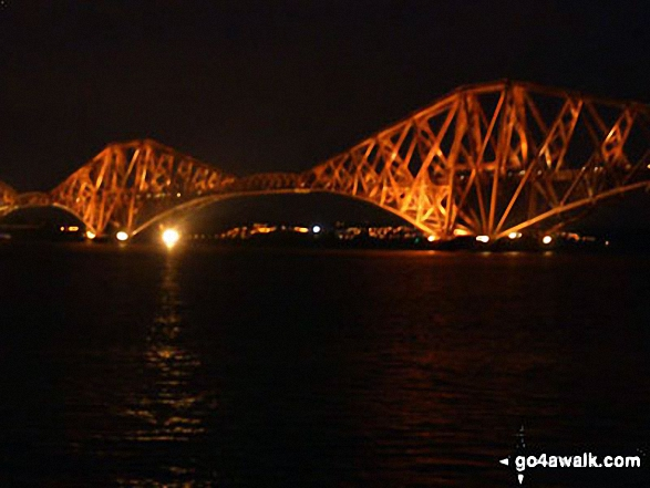 The Forth Road Bridge at night