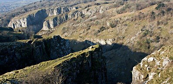 Cheddar Gorge. Walk route map so110 Beacon Batch from Cheddar Gorge photo