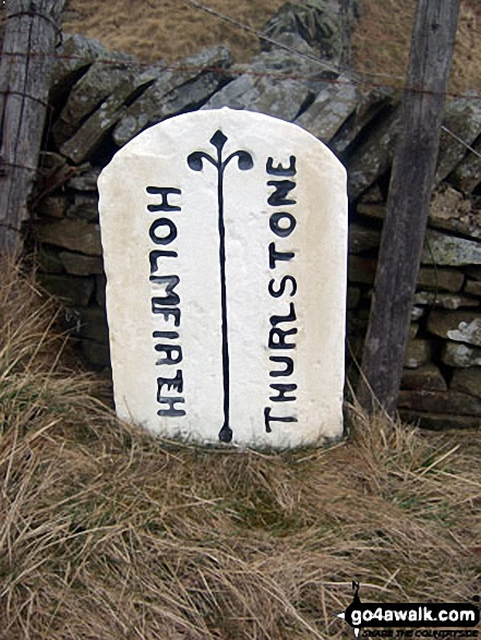 Boundary stone near Harden Reservoir