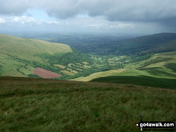 The Afon Senni Valley from Fan Nedd