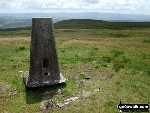 Walk Fan Nedd walking UK Mountains in The Brecon Beacons Area The Brecon Beacons National Park Powys    Wales