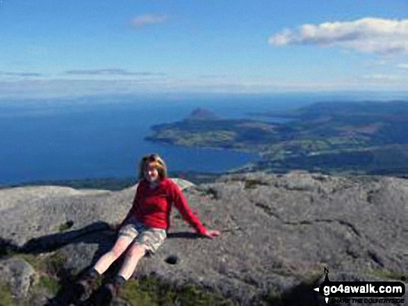 Me on top of Goatfell (Goat Fell) on The Isle of Arran
