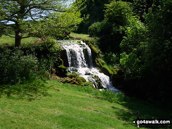Bridehead Lake waterfall, Littlebredy