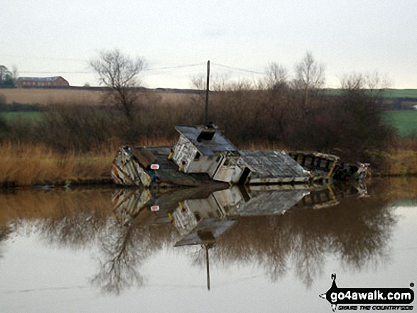 Shipwreck on the River Weaver at Dutton Locks
