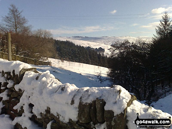Hagg Side from near Lockerbrook Farm in the snow