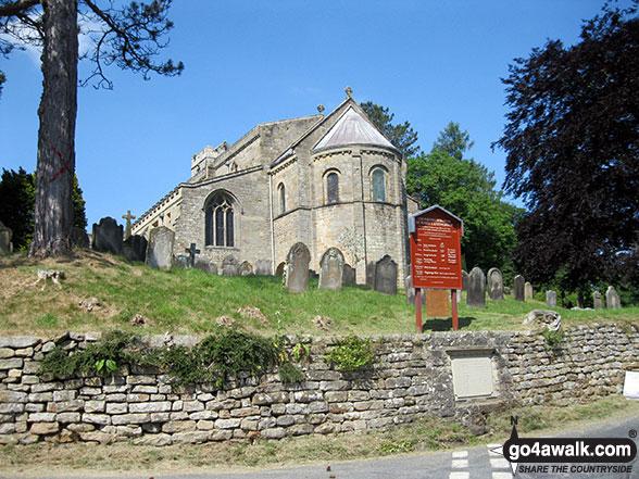 Walk ny190 Appleton-le-Moors from Hutton-le-Hole - St Marys Church, Lastingham