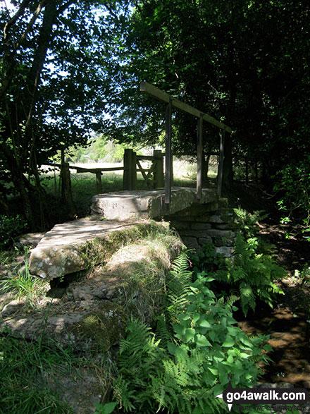 Walk ny190 Appleton-le-Moors from Hutton-le-Hole - The stone footbridge over Ings Beck near Lastingham
