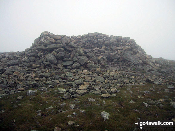 The stone wind shelter on Great Dodd summit