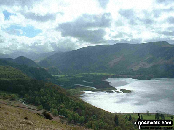 The Southern end of Derwent Water from part way up Walla Crag. Walk route map c201 Ashness Bridge and Walla Crag from Keswick photo