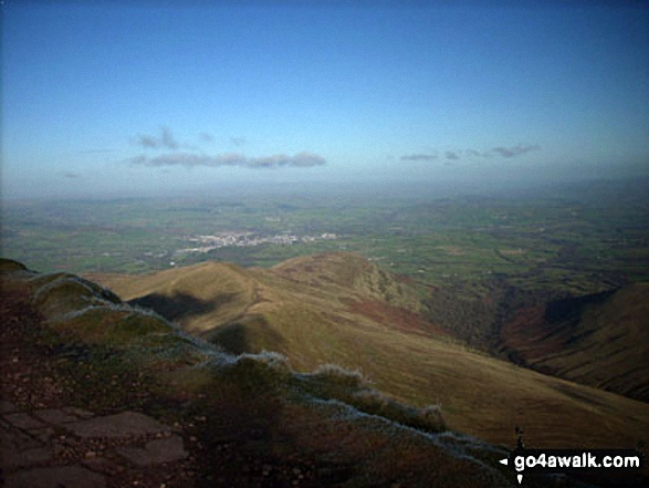 Brecon from the summit of Cribyn