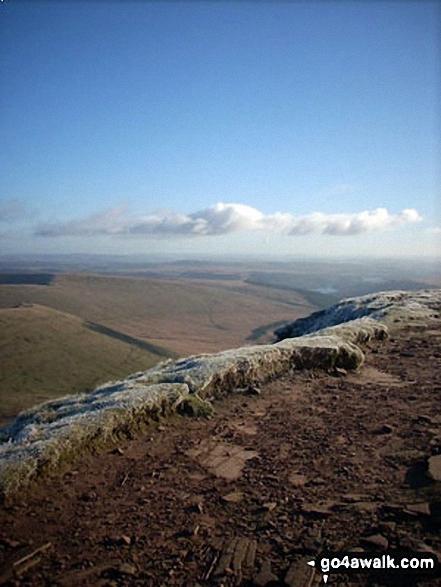 Neuadd Reservoir from the summit of Cribyn
