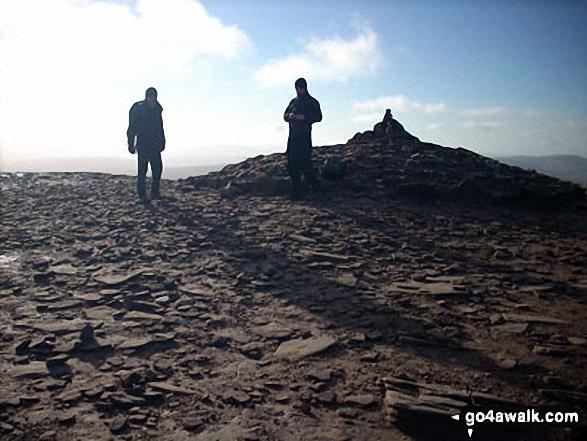Walk po104 Pen y Fan and Cribyn from Nant Gwdi - On Pen y Fan summit