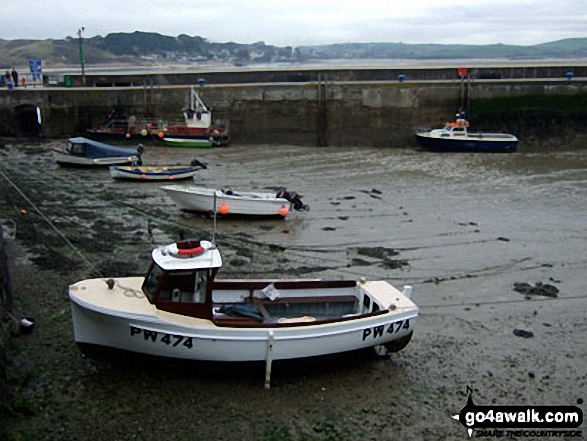 Padstow Harbour with the tide out