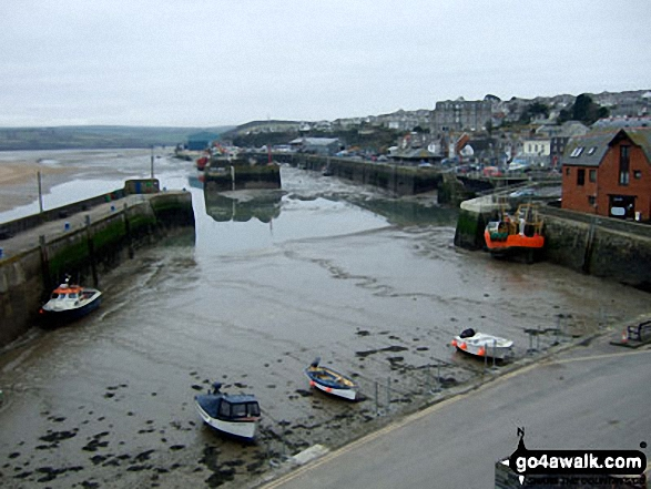 Padstow Harbour at low tide
