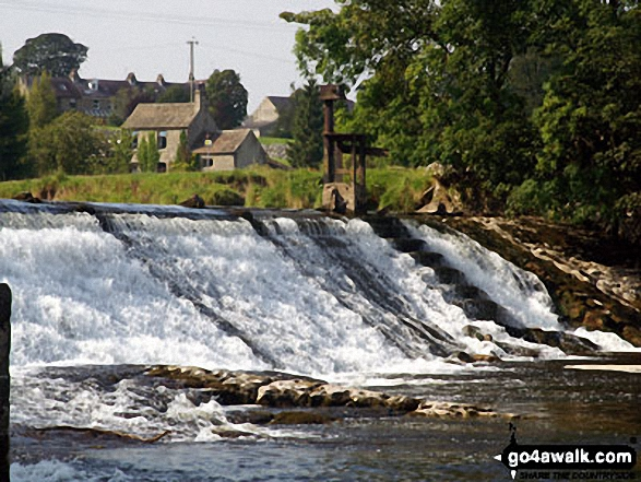 Weir on the River Wharf near Grassington
