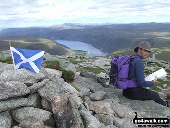 My fiance on Broad Cairn walk Southern Cairngorms Angus Scotland walks