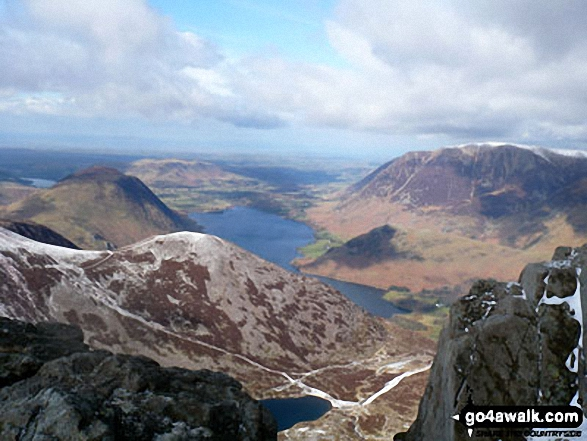 Walk Dodd (Buttermere) walking UK Mountains in The Western Fells The Lake District National Park Cumbria    England