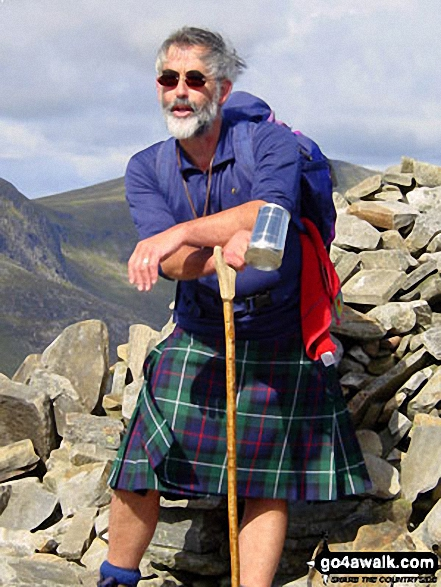 Me on Beinn Na Lap - my last Munro walk  Highland Scotland walks