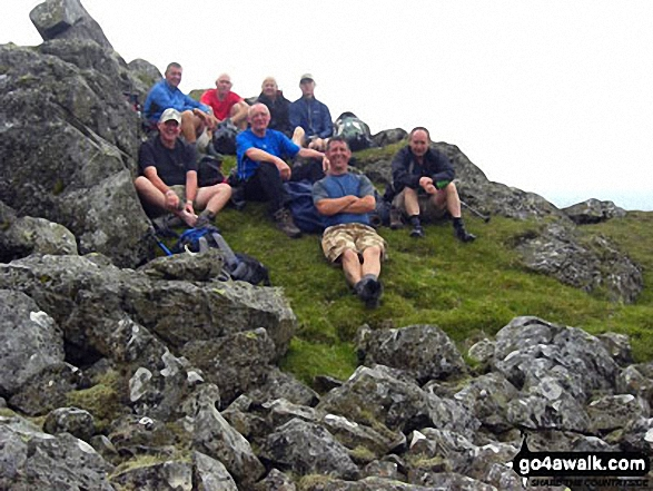 Queens club ramblers atop of Red Pike (Buttermere) 2011